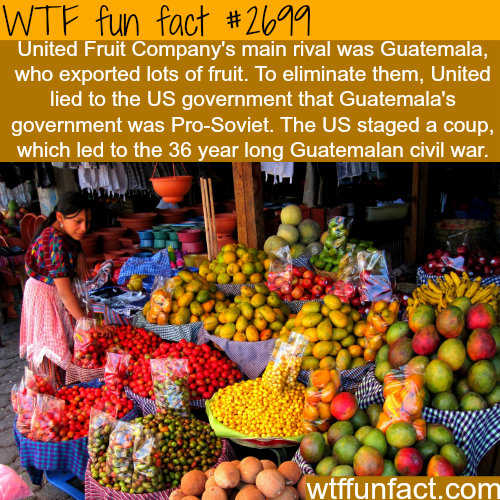 How United Fruit Company's Started a Civil War - WTF fun facts