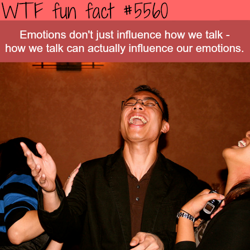 How we talk influence our emotions - WTF fun facts