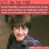 how young daniel radcliffe celebrated when he got the