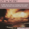 hydrogen bomb in space wtf fun facts