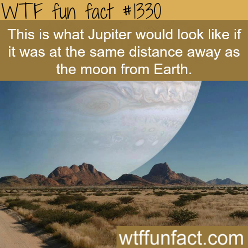 If Jupiter is in place of the moon
