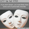 if you dont dream wtf fun facts