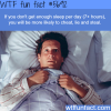 if you dont get enough sleep wtf fun fact