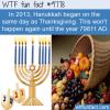 in 2013 hanukkah began on the same day as