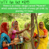 indian village celebrates the birth of girls by