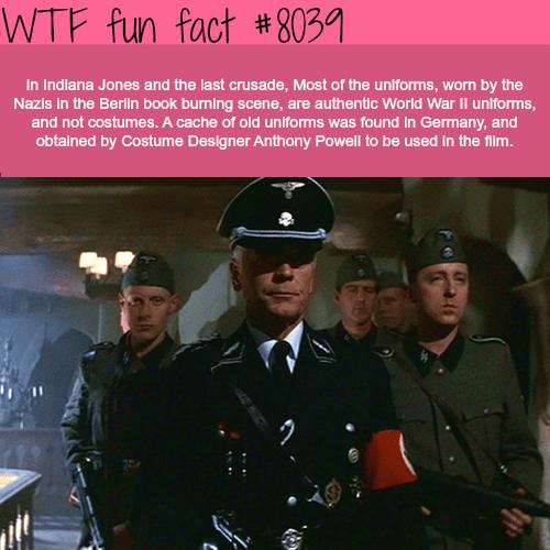 Indiana Jones and last crusade - WTF fun fact