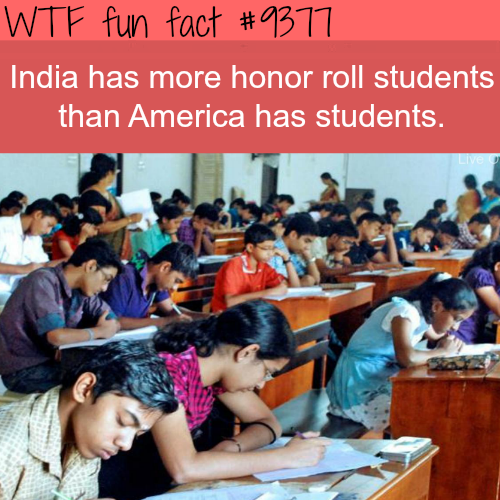 India's honor roll students - WTF fun facts