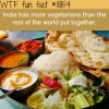 indias vegetarians population wtf fun facts