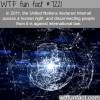 internet access is a human right wtf fun fact