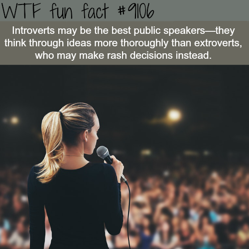 Introverts- WTF fun fact