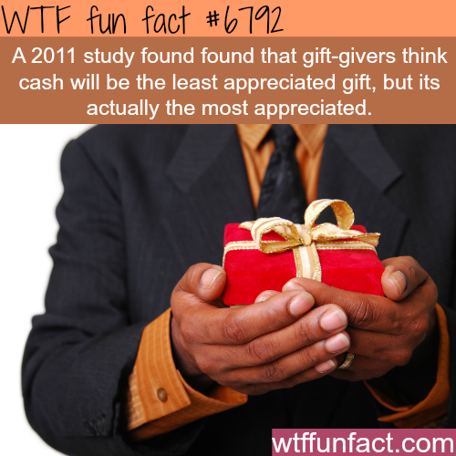 Is cash as a gift a bad idea? - WTF fun fact