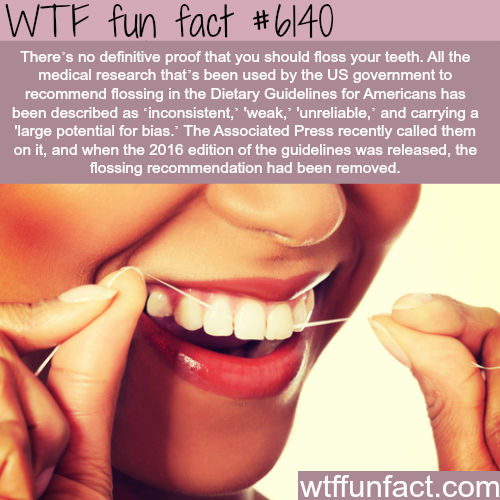 Is flossing your teeth beneficial? - WTF fun facts