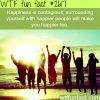 is happiness contagious wtf fun facts