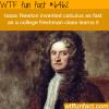 isaac newton wtf fun facts