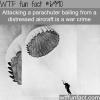 its a war crime to shoot a parachuter from an