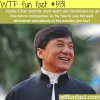 jackie chan cant get insurance for him and his