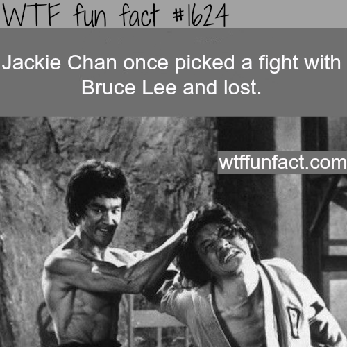 Jackie Chan fought Bruce Lee -WTF fun facts