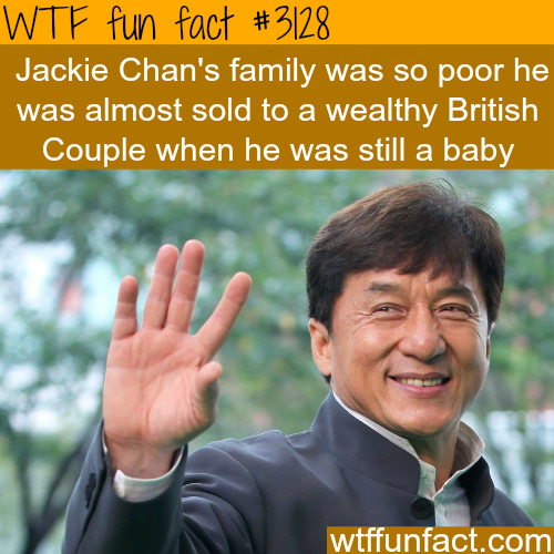 Jackie Chan's family history -WTF fun facts