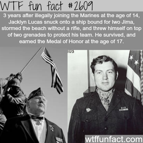 Jacklyn Lucas - WTF fun facts