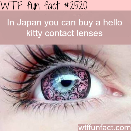 Japan's Hello Kitty Contact Lenses - WTF fun facts