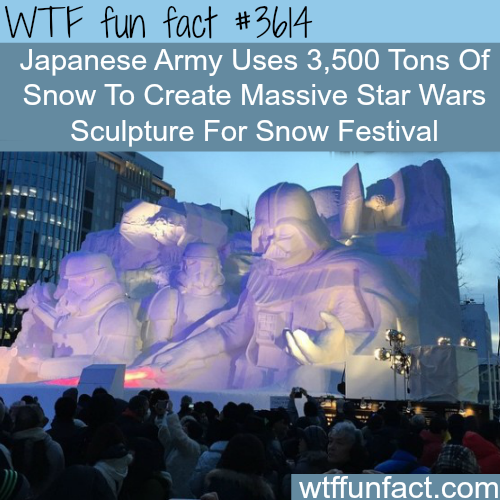 Japanese Army creates a huge Star Wars Sculpture - WTF fun facts