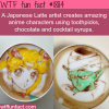 japanese latte artist creats anime