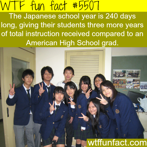 Japanese vs American schools - WTF fun facts
