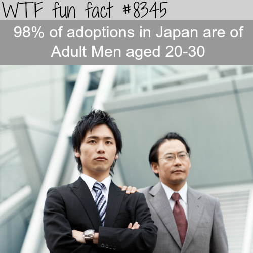 Japan's adult adoption - WTF fun facts