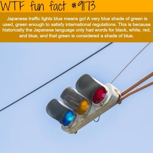 Japan's traffic lights - WTF Fun Facts