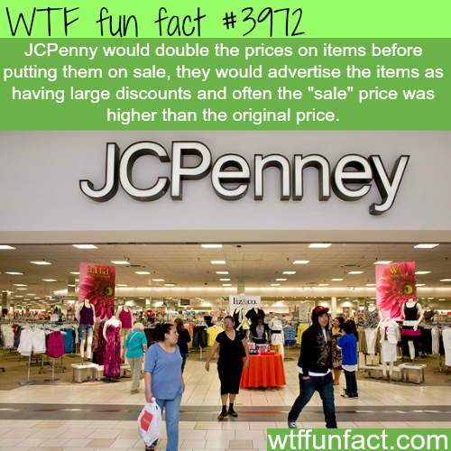 JCPenney sales - WTF fun facts