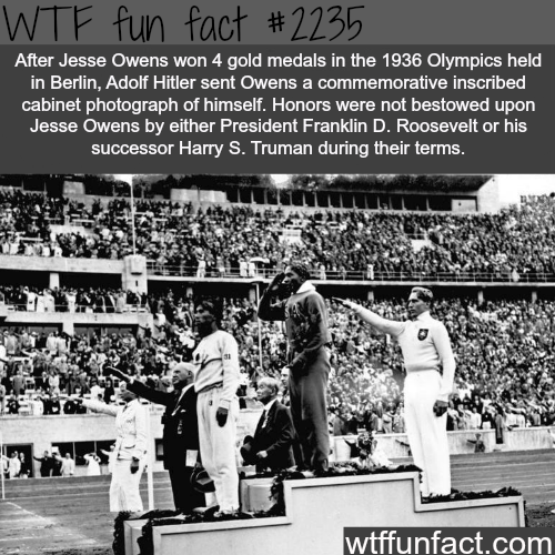 Jesse Owens and Hitler - WTF fun facts