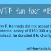 john f jennedy salary facts