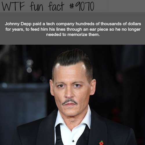 Johnny Depp - WTF fun facts