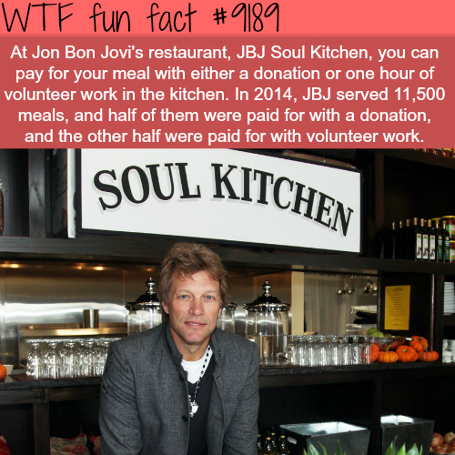 Jon Bon Jovi's Restaurant - WTF Fun Facts