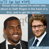 kanye west raps to seth rogen wtf fun facts