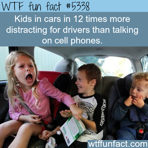 Kids are more distracting than talking on cell phones - WTF fun facts