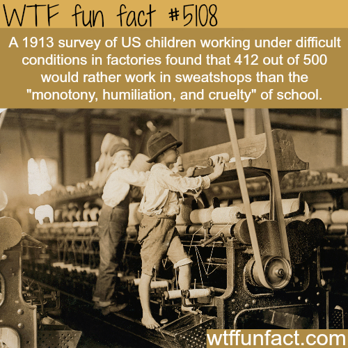Kids will do anything to not go to school - WTF fun facts