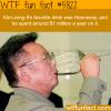 kim jong ils favorite drink wtf fun facts