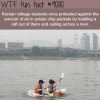 korean college students make a raft out of chips
