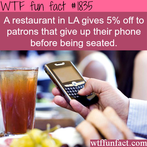 LA restaurant discount - WTF fun facts