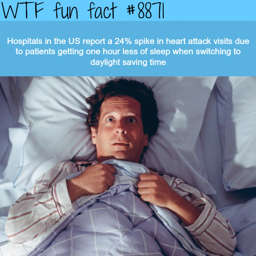 Lack of sleep could increase heart attacks rate - WTF fun facts