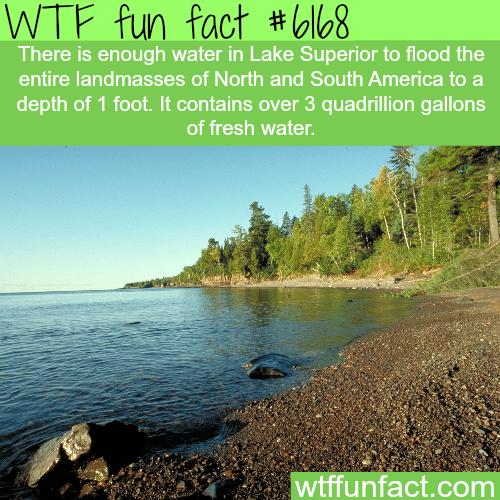 Lake Superior depth -WTF fun facts