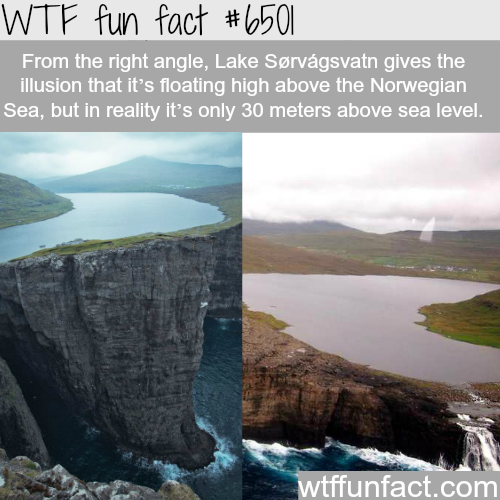 Lake Sørvágsvatn - WTF fun facts
