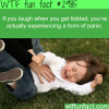 laughing when getting tickled