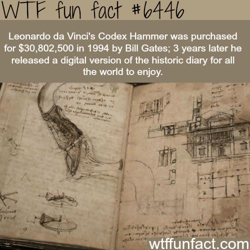 Leonardo da Vinci's Codex Hammer - WTF fun facts