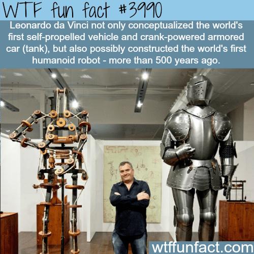 Leonardo da Vinci's robot - WTF fun facts
