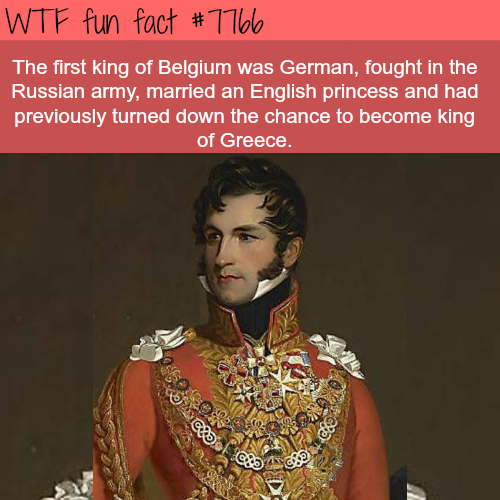 Leopold I of Belgium - WTF fun fact