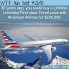 lifetime unlimited first class travel pass