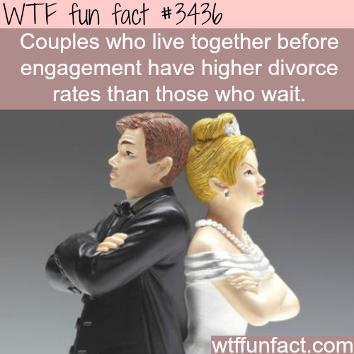 Living together before engagement -  WTF fun facts