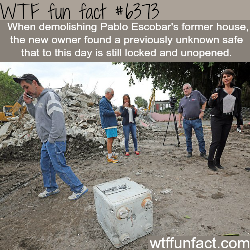 Locked safe found in Pablo Escobar's house - WTF fun facts